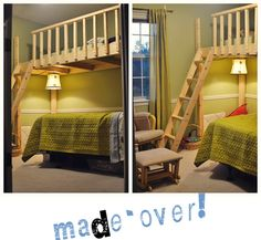 Build a loft bed for $100? Follow my brilliant & creative friend Samantha's blog...  you will love it!