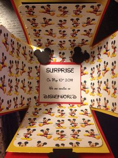 I love this idea for the kids to open on Xmas! Surprise Disney trip exploding box by ScrapbookingSuzy on Etsy