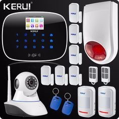 GSM App Control Wireless Home Security Alarm System Wifi IP Camera SMS RFID Autodial SMS Detector Kit Wireless Flash Siren *** AliExpress Affiliate's buyable pin. Click the image to visit www.aliexpress.com