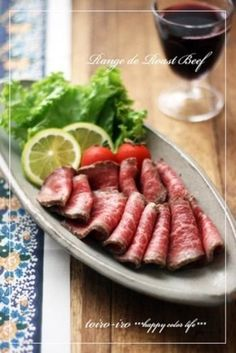 beef tataki using microwave Meat Recipes, Dinner Recipes, Recipies, Beef Tataki, Cook Pad, Best Roast Beef, Good Roasts, Beef Dishes, Food Plating