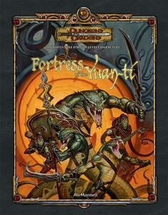 DD3 Fortress of the Yuan-Ti (3.5) | Book cover and interior art for Dungeons and Dragons 3.0 and 3.5 - Dungeons & Dragons, D&D, DND, 3rd Edition, 3rd Ed., 3.0, 3.5, 3.x, 3E, d20, fantasy, Roleplaying Game, Role Playing Game, RPG, Open Game License, OGL, Wizards of the Coast, WotC, TSR Inc. | Create your own roleplaying game books w/ RPG Bard: www.rpgbard.com | Not Trusty Sword art: click artwork for source