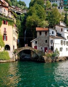 Nesso, Lago di Como, Italy // Had a great time during my Summer on Lake Como. Places Around The World, Oh The Places You'll Go, Places To Travel, Travel Destinations, Places To Visit, Around The Worlds, Nesso Italy, Lac Como, Wonderful Places