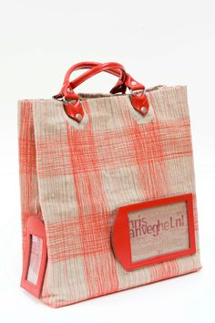 handmade heavy canvas shopper fire red by chrisvanveghel on Etsy, €475.00