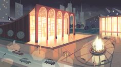 Location backgrounds for the Powerpuff Girls Danced Pantsed Special - Chris Turnham