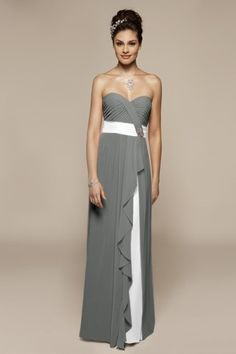 Love Liz Fields!! There's at least 20 colors to choose from on this dress.. YOU choose the dress color and the accent color.  I am absolutely sold on the gray and white.  So classy.