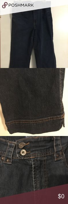 NWOT Capri Jeans NWOT Bandolino Blu heavy duty jean clam diggers, size 14.  Back pockets, double buttons at waist, detailed stitch at leg bottom to give loook of being rolled up, and of course front pockets. Bandolino Jeans Ankle & Cropped