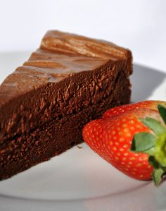 Chocolate Mousse Cake   A layer of baked mousse covered by just regular mousse. Something to think about.