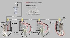 Gallery of Ge 12722 Zwave And 12723 Wiring Doityourself Com Community Forums - wiring diagram for a 4 way light switch Basic Electrical Wiring, Electrical Code, Electrical Switches, Electrical Projects, Electrical Installation, Electrical Outlets, 3 Way Switch Wiring, House Wiring, Electric House
