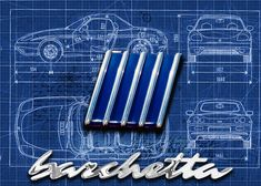"""Beautiful """"Barchetta blueprint"""" metal poster created by Karl Herzog. Our Displate metal prints will make your walls awesome. Print Artist, Spiders, Cool Artwork, Script, Poster Prints, Hoodie, Cars, Metal, Autos"""