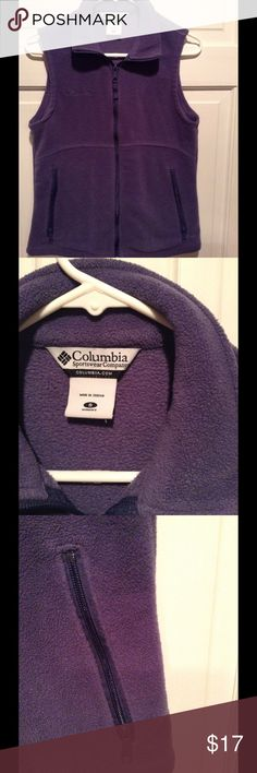 COLUMBIA FLEECE VEST JACKET In great condition. Size small. Columbia comfy fleece jacket. Columbia Jackets & Coats