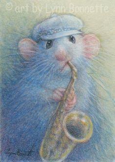 Mouse Plays the Blues by Lynn Bonnette