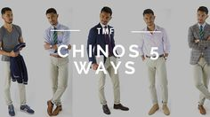 How to Wear Chinos 5 Ways - YouTube