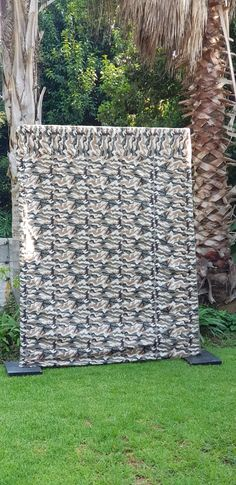 Camouflage Pocket Drape / Back Drop for hire H x W Freestanding Mushroom Chair, Garden Theme, Childrens Party, Red Riding Hood, Camouflage, Gazebo, Backdrops, Outdoor Structures, Pocket