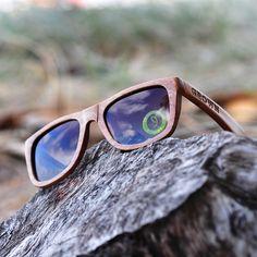 GROWN® Sustainable Wooden Eyewear | Bamboo Sunglasses — 'KICKER' Dumu Wood