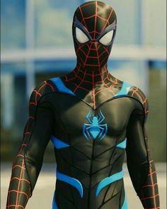 Black Spiderman, Amazing Spiderman, Spiderman Suits, Spiderman Spider, Marvel Comics, Marvel Comic Universe, Marvel Heroes, Marvel Characters, Marvel Avengers