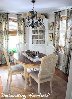 Decorating Hemlock: Dining Room Evolution-New paint color and Refinished furniture