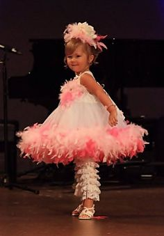 Feather boa dress ~ Love this so much.....just because even though I have no little one in my life right now!