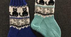 Lasten kissa- ja koira-aiheiset kirjoneulesukat on tehty Novitan Nalle -langasta. Tässä ohjeessa on 2 kokoa, kengän koko 26 (pohjan pituus 1... Kissa, Knitting Socks, Winter, Fashion, Tricot, Breien, Knit Socks, Winter Time, Moda