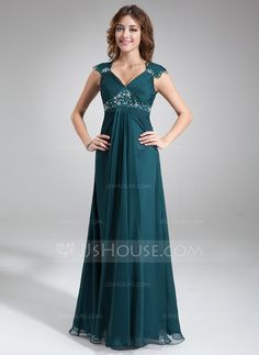 Mother of the Bride Dresses - $116.99 - A-Line/Princess V-neck Floor-Length Chiffon Mother of the Bride Dress With Ruffle Lace Beading (008005696) http://jjshouse.com/A-Line-Princess-V-Neck-Floor-Length-Chiffon-Mother-Of-The-Bride-Dress-With-Ruffle-Lace-Beading-008005696-g5696?snsref=pt&utm_content=pt
