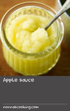 Apple sauce - The classic accompaniment to roast pork, but also a good way of preserving a glut of apples in the freezer. Use some slightly sweetened apple sauce for our speedy turnovers, or on the base of a French tart. Apple Recipes Easy, Roast Recipes, Sauce Recipes, Jam Recipes, Fruit Recipes, Healthy Recipes, Vinaigrette, My Favorite Food, Favorite Recipes