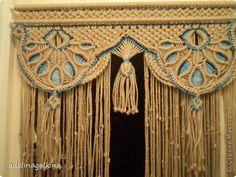 Интерьер Макраме мои макраме-шторы Нитки фото 4