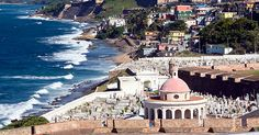 San Juan, Puerto Rico: An affordable tropical escape. Direct flights daily from 20 U.S. airports. No passports needed. The dollar is the currency. English is widely spoken. The temperature averages 82 degrees.