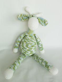 Crochet Giraffe. Żyrafa zrobiona na szydełku. hand made dolls cotton crochet toy gift girl lalki szydełko zabawka ręczna praca ręczne robótki bawełna