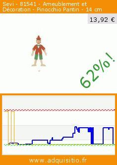 Sevi - 81541 - Ameublement et Décoration - Pinocchio Pantin - 14 cm (Jouet). Réduction de 62%! Prix actuel 13,92 €, l'ancien prix était de 36,46 €. https://www.adquisitio.fr/sevi/81541-ameublement