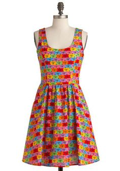 "Good Enough to Premiere Dress, #ModCloth  - How cute is this?  I LOVe ModCloth.  I push the ""love it"" button and the clothes say something back to me:)  SO fUn!!"
