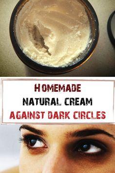 Dark circles? Homemade natural cream against dark circles