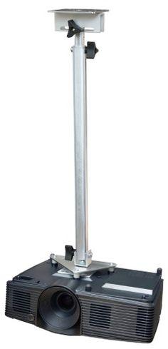 Projector Ceiling Mount for NEC PA500U PA500X PA521U PA522U PA550W PA571W PA572W, Silver