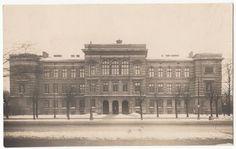 Riga State Second Gymnasium High School Foreground Latvia Latvian 1920s Postcard | eBay