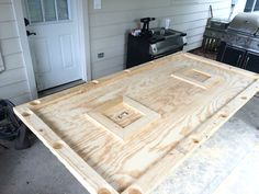 Made a Crawfish table today out of a sheet of plywood and 2x4's for an upcoming crawfish boil.