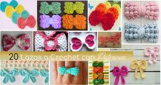 20 Lazos Tejidos a Crochet con Patrones