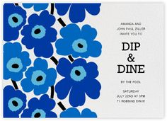 Send timeless Scandinavian style to your guests with Marimekko's online invitations and stationery. Cocktail Party Invitation, Neighborhood Party, Pool Party Invitations, Paperless Post, Used Tools, Marimekko, Color Splash, Barbecue, Rsvp