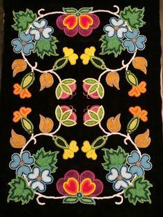 Ojibwe floral dress panel