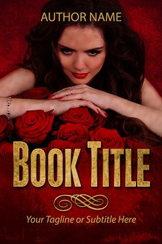 Pre-made book cover design - Roses