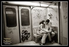New York SUBWAY EMBRACE Clyde Keller Photo Art by ClydeKellerPhoto, $125.00   This is one of my favorite photos - hoping my hubby sees it - I have a birthday coming up :)