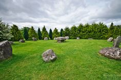 The Druid's Circle is a stone circle in Kemare, County Kerry, Ireland ...