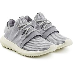 Adidas Originals Tubular Viral Sneakers (140 SGD) ❤ liked on Polyvore featuring shoes, sneakers, grey, gray shoes, adidas originals sneakers, lightweight shoes, grey shoes and gray sneakers