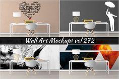 Wall Mockup - Sticker Mockup Vol 272 by Creative Interiors on @creativemarket