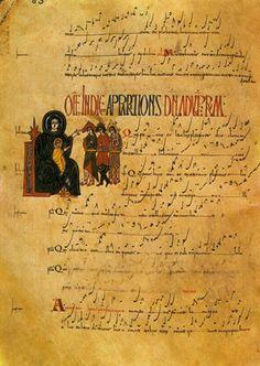 Antifonario de León, s. X, rito hispanovisigodo o mozárabe, Museo de la Catedral.