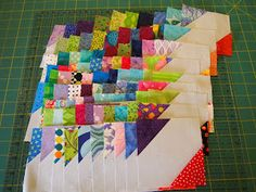 How to make the blocks for the XO quilt
