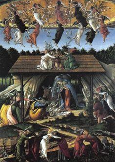 "Obra de Sandro Botticelli "" Mystic Nativity €"" National Gallery, London"