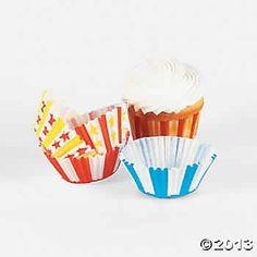 Carnival cupcake baking cups