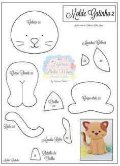 felt toys New Sewing Toys Patterns Christmas Ideas Felt Patterns, Craft Patterns, Pattern Ideas, Diy Cat Toys, Felt Templates, Applique Templates, Applique Patterns, Card Templates, Felt Cat