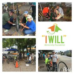 Yesterday, some of our amazing volunteers at I Will Mentorship Foundation came together and helped repair bikes for our upcoming Community Youth Bike Ride events with Fort Myers Police. We are very thankful to Fort Myers Schwinn Cyclery for offering their location to repair the many bikes that will be donated to local charity after the Community Ride events.  Our goal is to bridge the gap and build relationships in the community. www.iwmf2.org