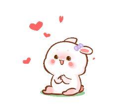 Cute Bunny Cartoon, Cute Cartoon Pictures, Cute Love Pictures, Cute Love Memes, Cute Love Gif, Gif Mignon, Images Emoji, Hug Gif, Cute Bear Drawings