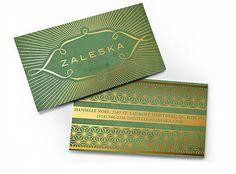 Zaleska   Business Cards   The Design Inspiration for International Convention