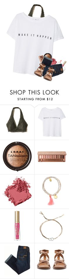 """I luv sleeping over at friends houses"" by kat-attack ❤ liked on Polyvore featuring Hollister Co., MANGO, LORAC, Bobbi Brown Cosmetics, Jigsaw, Too Faced Cosmetics, Dogeared, American Eagle Outfitters and Zara"